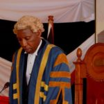 The Speaker of the County Assembly Hon. David Githanda makes a ruling.