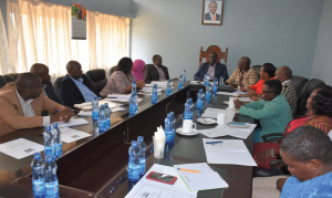 Members of the Senate Session Committee on Delegated Legislation in a joint meeting with the County Assembly's Committee on Legal, Justice and Delegated County Legislation