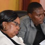 Hon. Albina Wambui Member of Budget Commitee and Hon. Beatrice Mitaru  during the Joint County Budget & Appropriations and Finance, Economic Planning & ICT Committees Meeting.