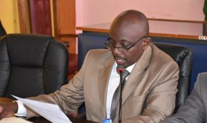 Hon. Gudson Muchina Member of Finance Commitee during the Joint County Budget & Appropriations and Finance, Economic Planning & ICT Committees Meeting.
