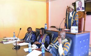 The Speaker of the County Assembly Hon. David Githanda presides over a Special Sitting of the County Assembly.