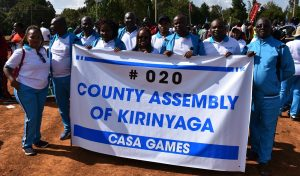 Members of the County Assembly and staff take part in this years edition of the CASA games in Eldoret, Uasin Gishu County.