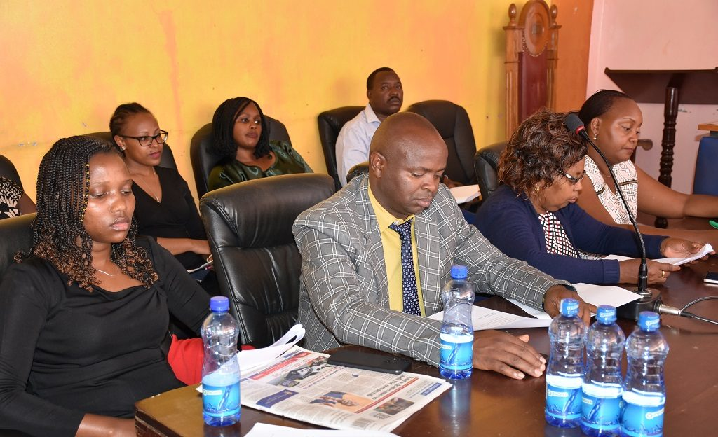 Members of the County Assembly during the County Budget and Appropriations Committee session with the CEC's Member for Finance on the proposed changes to the County Fiscal Strategy Paper 2020.