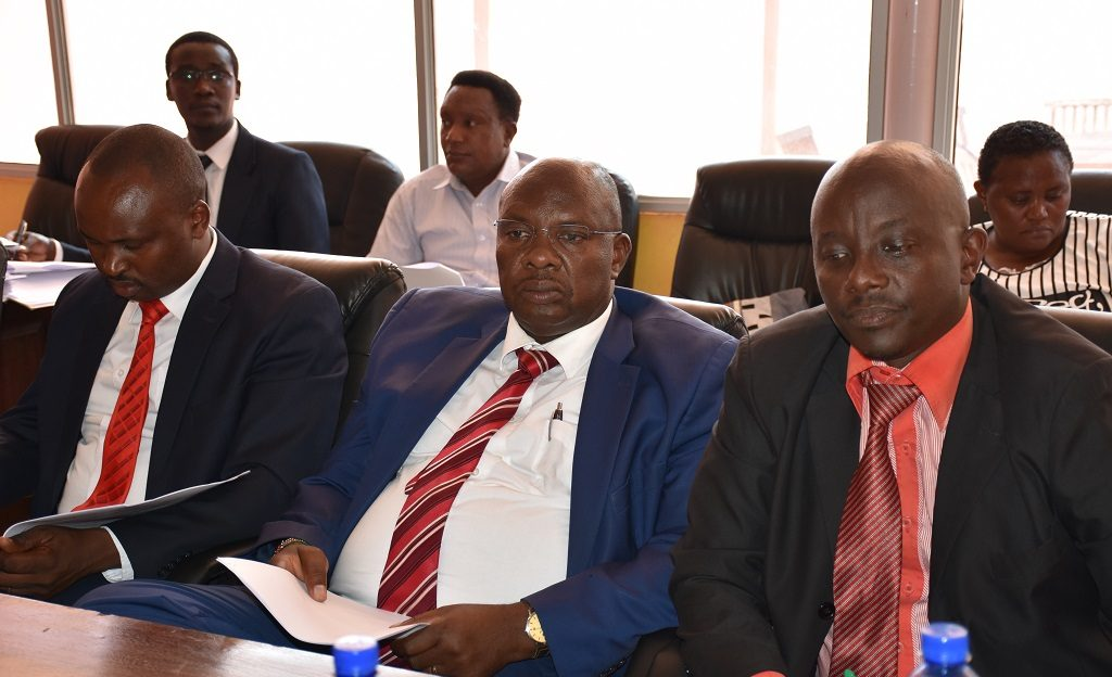 Members of the County Assembly during  the consultative meeting with the Budget and Appropriations committee in regards to County Fiscal Strategy Paper 2020.