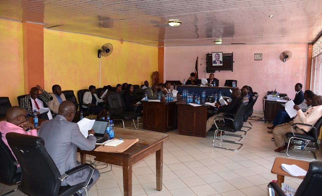 Members of the Budget and Appropriations committee consultative meeting with the CEC member for Finance and Economic Planning